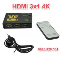 Bộ gộp HDMI 3 vào 1 ra hỗ trợ 4K