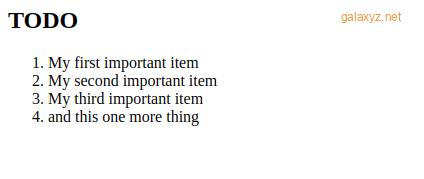 Ví dụ về danh sách việc cần làm trong PHP