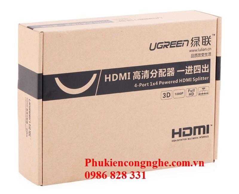 Bộ chia HDMI 1 ra 4 full HD Chính hãng Ugreen UG-40202