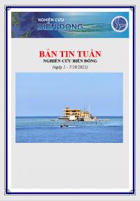 Bản tin tuần Biển Đông (ngày 1-7/9/2021)