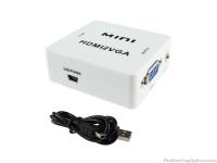 Hộp chuyển đổi tín hiệu HDMI to VGA HDMI2VGA chất lượng cao