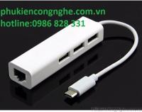 Cáp chuyển đổi USB Type-C ra LAN hỗ trợ 3 cổng USB
