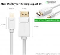 Cáp chuyển đổi Mini DisplayPort to Displayport 2m chính hãng Ugreen 10408